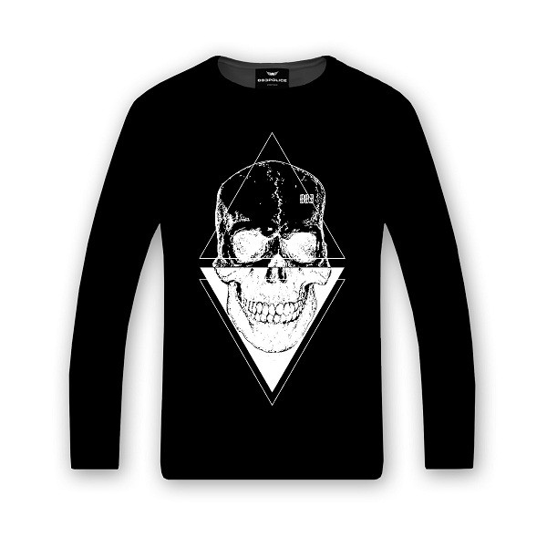camiseta-larga-skull-triangle-negro-883police