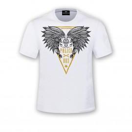 camiseta-cabezas-883police-plumas-blanca
