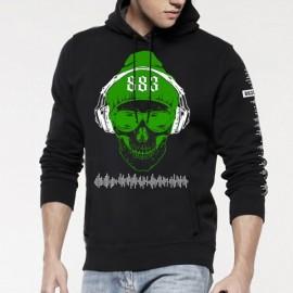 Sudadera con capucha DJ Skull